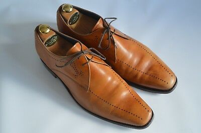 Barker Tan Leather Perforated Derby Shoes - 443 Last - Resoled - Uk11F Us12 Eu45