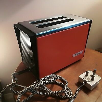 Vintage Electric Dateline orange toaster