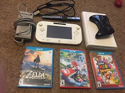 Nintendo Wii U With Lots Of Extras!