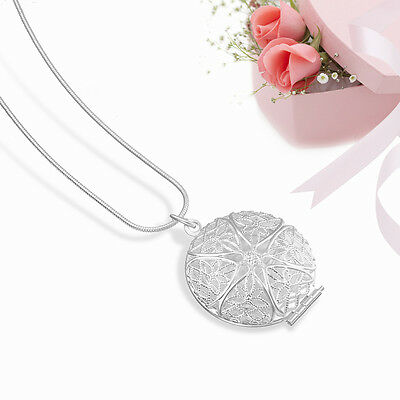 Wholesale Women 925 Solid Necklace Silver Ladies Necklace Jewelry+Xmas Gift