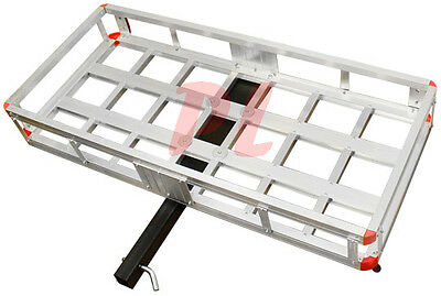 500 Lb. Aluminum Cargo Carrier Hitch Receiver Mount Luggage Large Loads Rack
