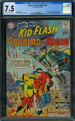 Brave and the Bold 54 CGC 7.5 - OW/W Pages