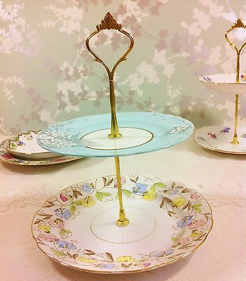 Bella Floral 2 Tier Cake Stand