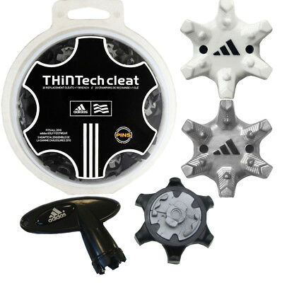 Adidas Thin Tech Golf Spikes Cleats 20 Pack & Free Wrench! PINS Fitting