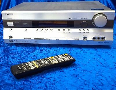 Onkyo TX-SR505E Home Cinema Receiver Amp with Remote Control. Full Working Order