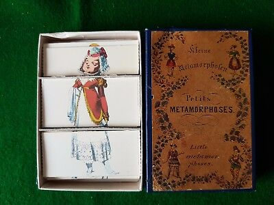 Old Boxed Funny Childs Card Game Petits Metamorphoses (Little Metamorphoses)