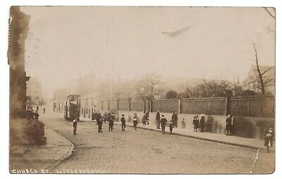 Last Tram between Littleborough and Rochdale. Real photo postcard 30 April 1905