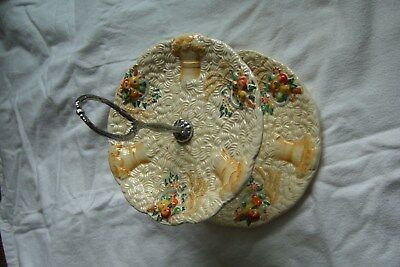 """Clarice Cliff """"celtic Harvest"""" 2 Tier Cake Stand"""