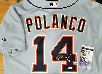 Placido Polanco Autographed Detroit Tigers Authentic Baseball Jersey - JSA CoA