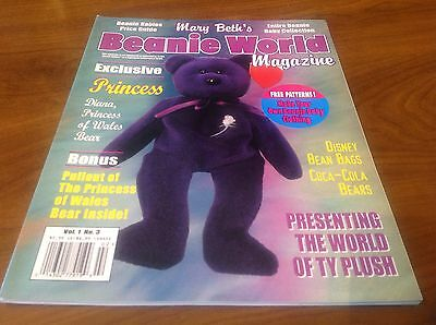 Mary Beth's Beanie World Magazine Exclusive PRINCESS Bear Bonus Vol.1 No. 3
