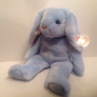 Ty Beanie Buddy Flippity Light Blue Bunny Mint NWMT 1999