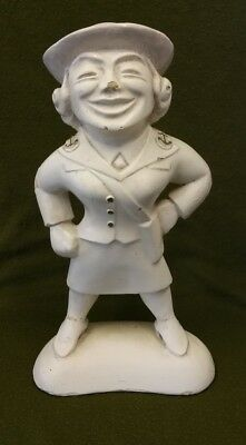 Early 20th Century (WW1?) Plaster W.R.E.N Figure.  Possibly for Recruitment.