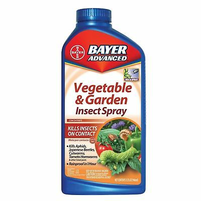 BAYER Advanced 701521 Vegetable and Garden Insect Spray Concentrate 32-Ounce NEW