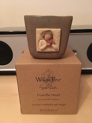 WILLOW TREE by Susan Lordi 'From the Heart' Candleholder with Tealight - BNIB