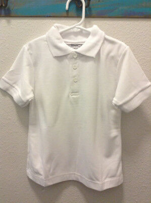 New Genuine School Uniform White Polo Collar Short Sleeve Size 4