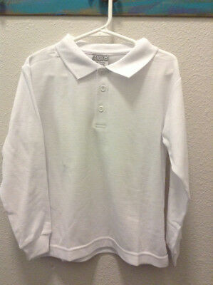 New Genuine School Uniform White Polo Collar long Sleeve Size 5/6