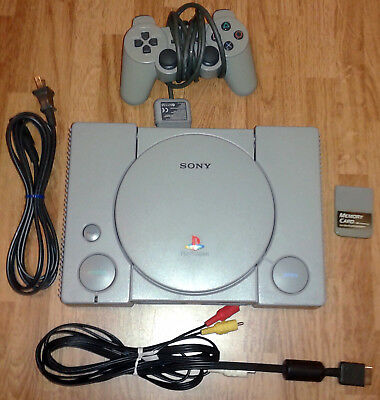 Playstation 1/PS1 bundle: + controller, memory card, and cables - SCPH-7501 NTSC