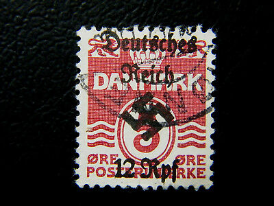 Local Deutsches Reich WWll Occ overprint Feldpost Denmark used