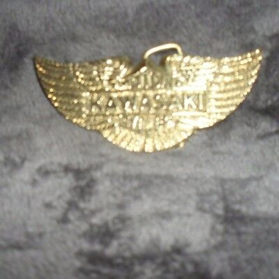 Vintage Kawasaki Solid Brass Belt Buckle 70's - 80's - New