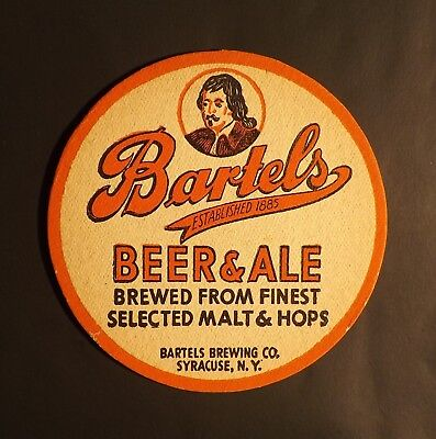 Vintage Bartels Beer Coaster -  Syracuse, NY New York - No Reserve!