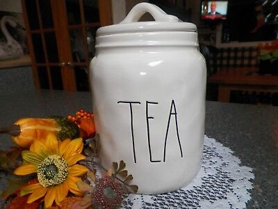 Rae Dunn *tea* Jar Container Farmhouse