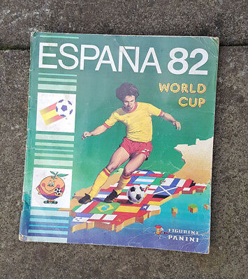 Panini Espana 82 World Cup Sticker Album With 359 Cards Stuck In