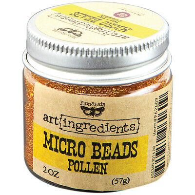 Finnabair Art Ingredients Micro Beads 2oz Pollen AIMB-62609