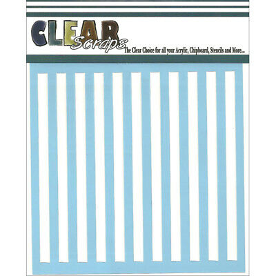 "Clear Scraps Stencils 12""X12"" Stripes CSSM12-STRIP"