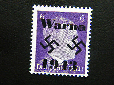 Local Deutsches Reich WWll Occ overprint Warna MNH