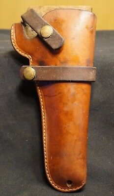Vintage Hunter Stamped 1100P Brown Leather Duty Carry Holster Police Detective