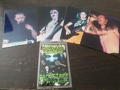 Marilyn Manson backstage pass and photos early 90s spooky kids
