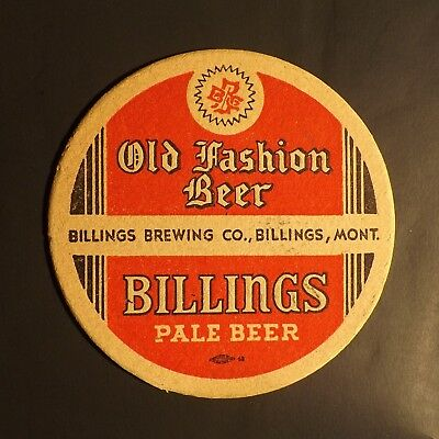 Vintage Billings Old Fashion Beer Coaster -  Billings, MT - No Reserve!
