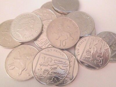 Old Large 10p Coins  - Circulated -.choose your Date/s - cheapest on EBAY!!