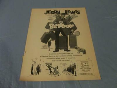 Jerry Lewis the bellboy vintage movie ad clipping  #CT
