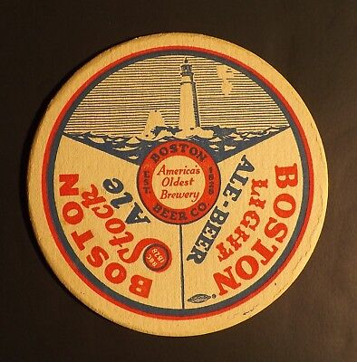 Vintage Boston Lighthouse Beer Coaster -  Boston, MA - No Reserve!