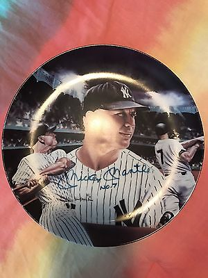 """Mickey Mantle Autographed Plate JSA """"Mickey At Night"""""""