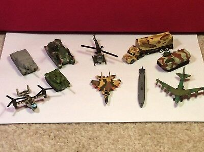 VINTAGE Micro Machines Military Vehicles X 10 Galoob #1