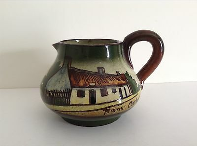 Beautifully 30s? Hand Painted Antique Mini Devon ware? Jug, Burns' Cottage
