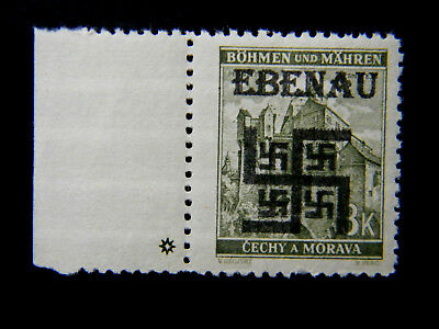 Local DR WW II Occ Sudetenland overprint Ebenau MNH