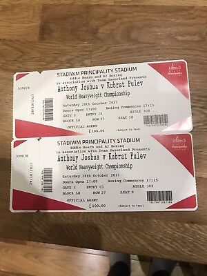 Anthony Joshua Vs Carlos Takam  - Lower tier - 2 Tickets. No reserve!!!