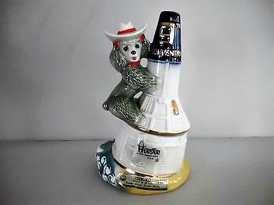 Vintage Beam Houston Texas 9Th Convention Poodle Space Shuttle Decanter Empty