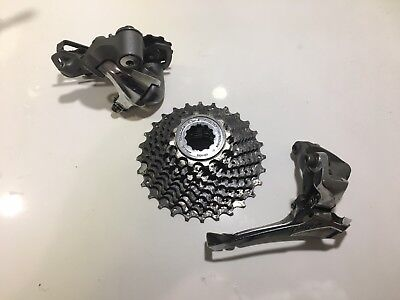 Shimano Tiagra 4600 12-28t 10 speed cassette including Front and Rear Derailleur