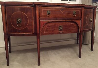 1790-1810  George III Breakfast Sideboard Original Magnificent Detail Bargain!