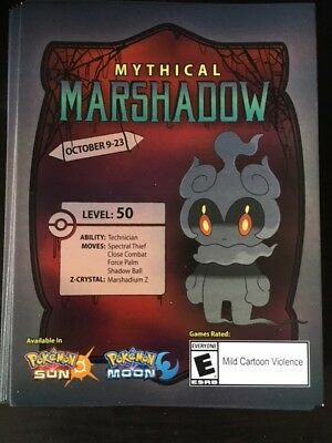 Marshadow mythical pokemon codes for Sun and Moon.