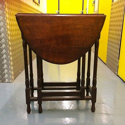 Mahogany Side Table - foldable sides - beautiful solid wood