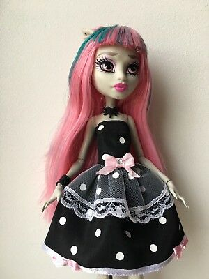 Black Polka Dots  Dress For  Monster High Doll Clothes