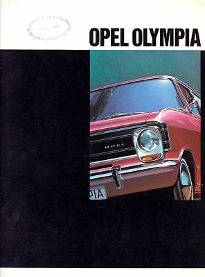 Catalogue publicitaire Opel Olympia