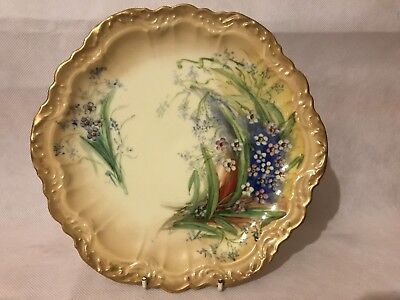 FABULOUSLY DECORATED D & Co LIMOGES VITAGE CAKE PLATE L@@K !!!