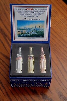 Olympic Coca-Cola Miniature Bronze, Silver, Gold Limited Edition Bottle Set