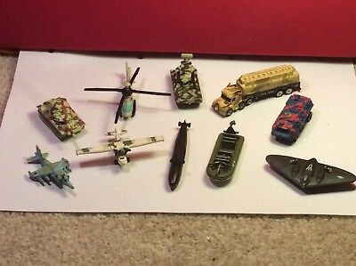 VINTAGE Micro Machines Military Vehicles X 10 Galoob #3